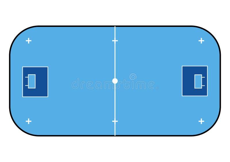 Colore della corte di Floorball per le vostre tattiche Fondo di sport royalty illustrazione gratis