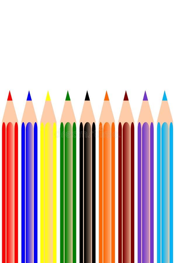 Colore della matita illustrazione vettoriale