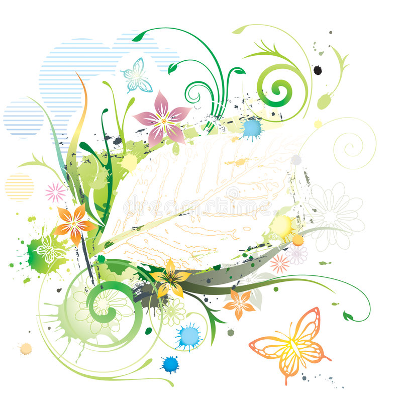 Colore di acqua floreale royalty illustrazione gratis