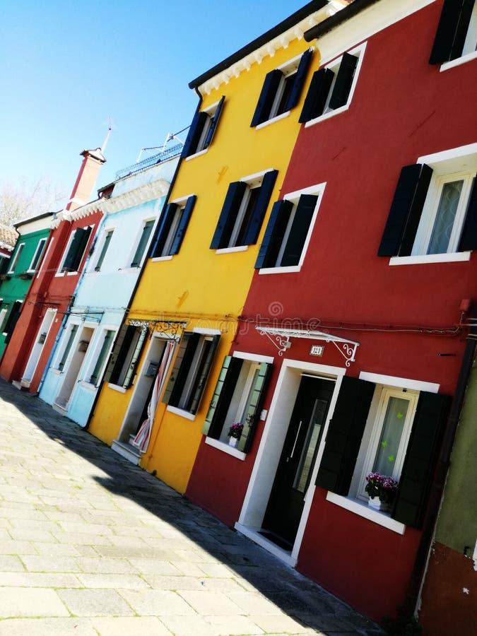 Colore di Burano fotografia stock