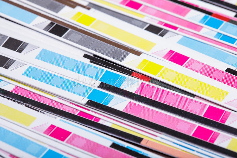 Colore di CMYK immagine stock