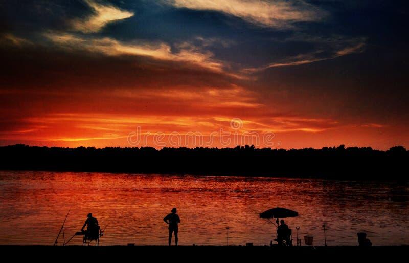 Colore di estate, pescatore immagini stock libere da diritti