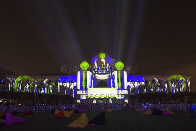 Colore di luce a Putrajaya Malesia immagine stock