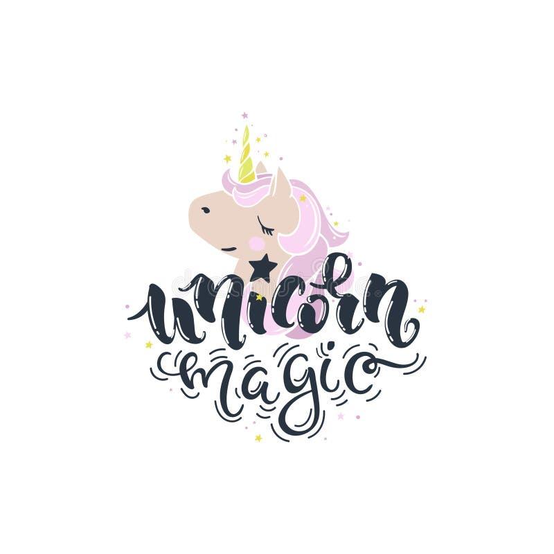 Colore di magia dell'unicorno royalty illustrazione gratis