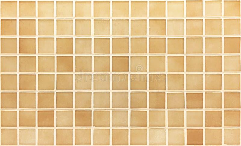 Colore di marrone della piastrella per pavimento del modello per fondo fotografia stock libera da diritti