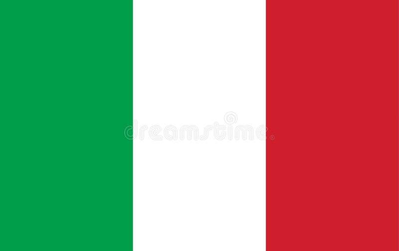 Colore di proporzione della bandiera dell'Italia Paese italiano dell'insegna della bandiera di Europa illustrazione vettoriale