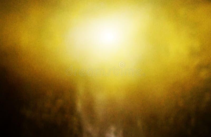 Colore di sfondo arancione oro centrale e colore caldo di bordo arancione scuro fotografie stock libere da diritti