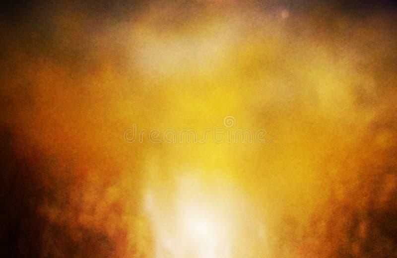 Colore di sfondo arancione oro centrale e colore caldo di bordo arancione scuro fotografie stock