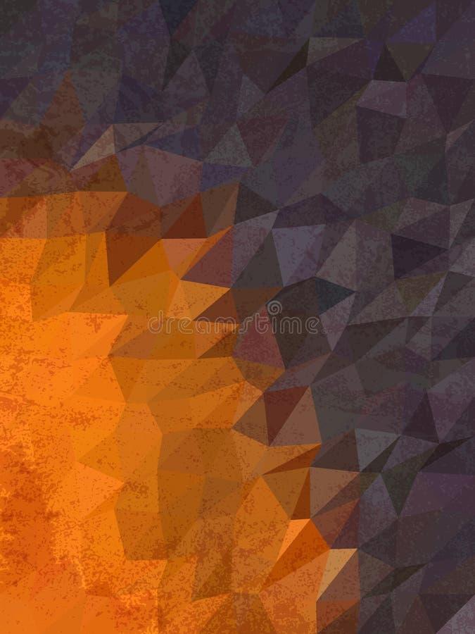 Colore di tono due del fondo della geometria royalty illustrazione gratis