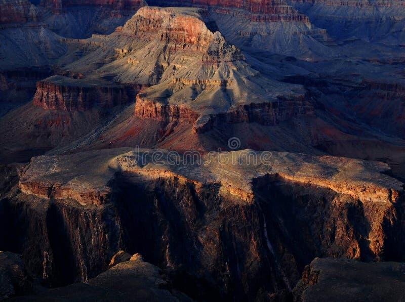 Colore di tramonto del grande canyon fotografia stock libera da diritti