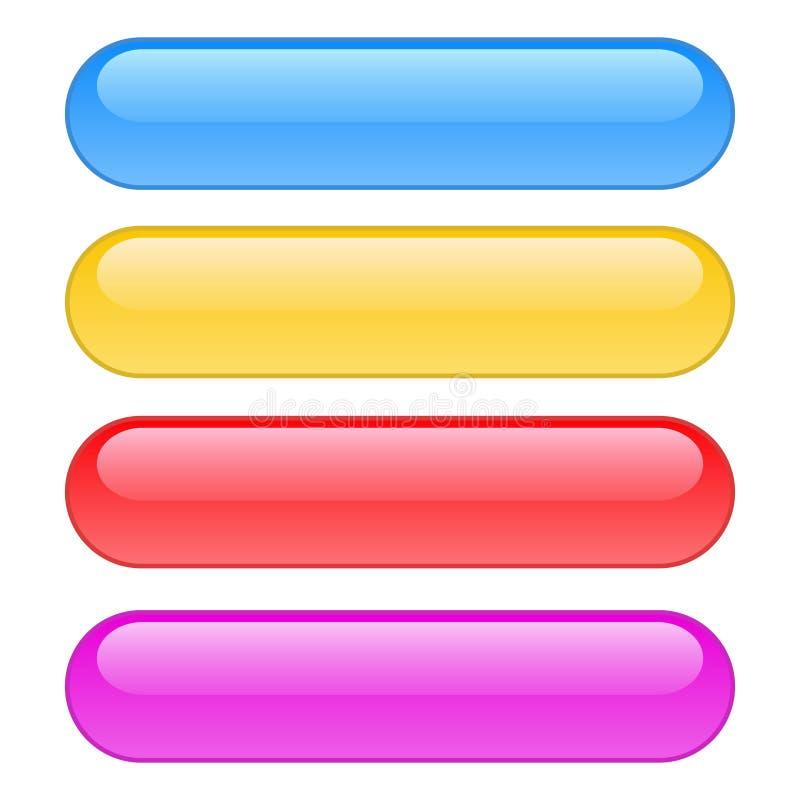 Colore di vettore delle icone dei bottoni di web illustrazione vettoriale