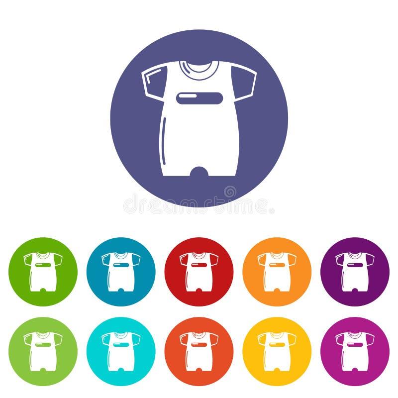 Colore di vettore fissato icone del cursore dei bambini illustrazione di stock