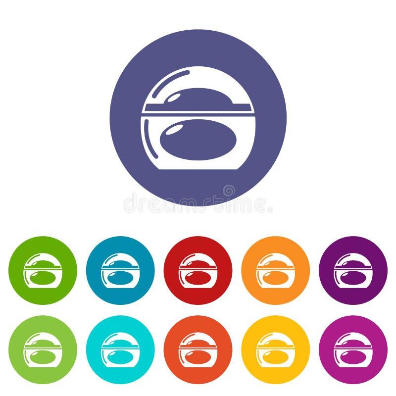 Colore di vettore fissato icone del porta-sapone royalty illustrazione gratis