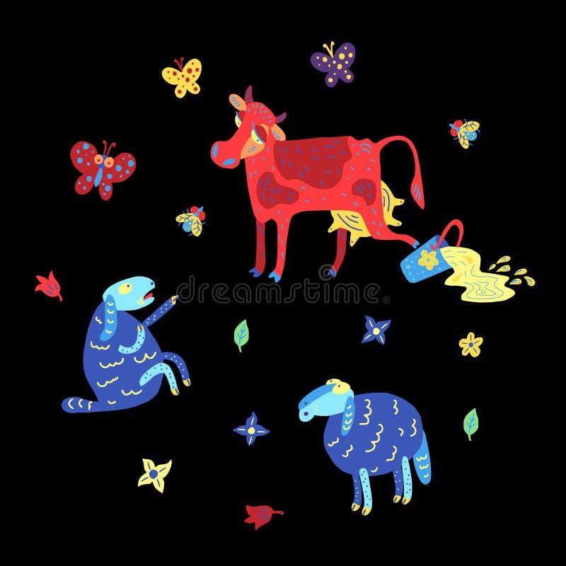 Colore doodle2 di estate royalty illustrazione gratis