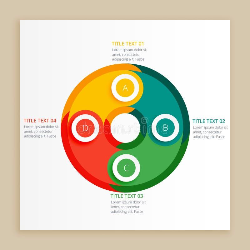 Colore etapas do infograph ilustração royalty free
