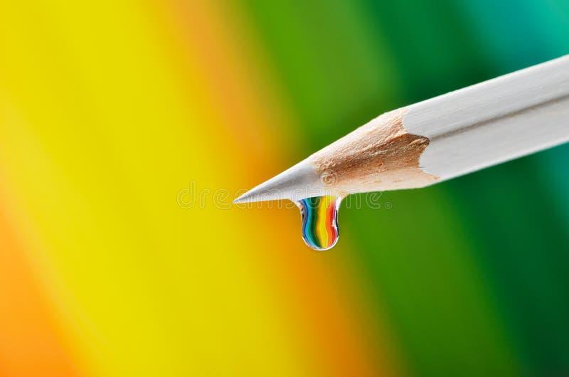 Colore a explosão em uma gota foto de stock
