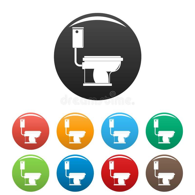 Colore fissato icone della toilette illustrazione vettoriale