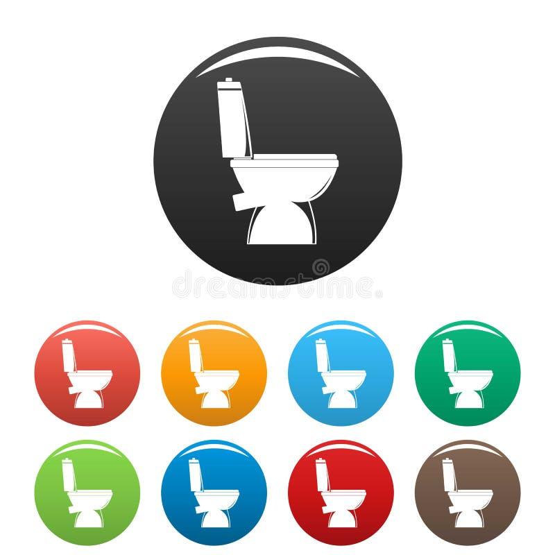 Colore fissato icone domestiche della toilette illustrazione vettoriale
