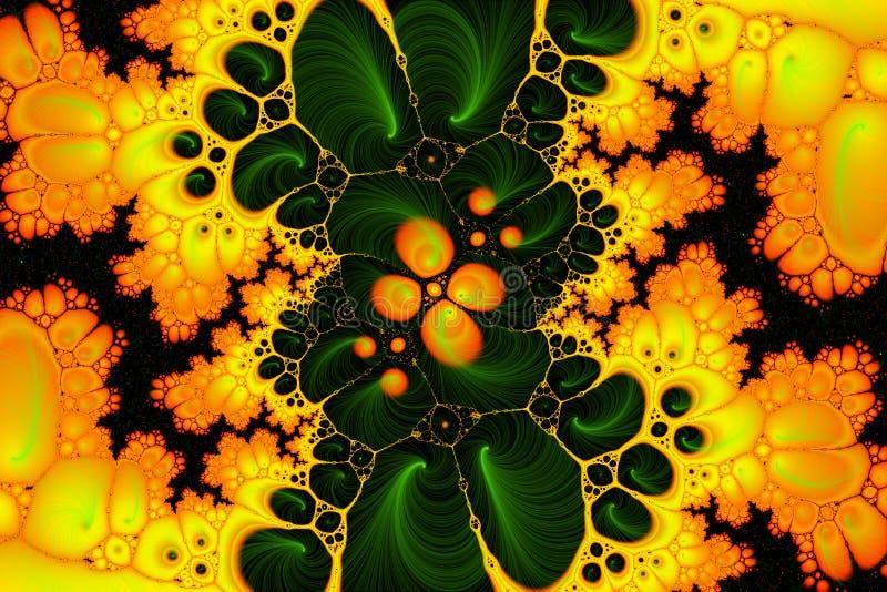 Colore giallo della prova acida illustrazione di stock