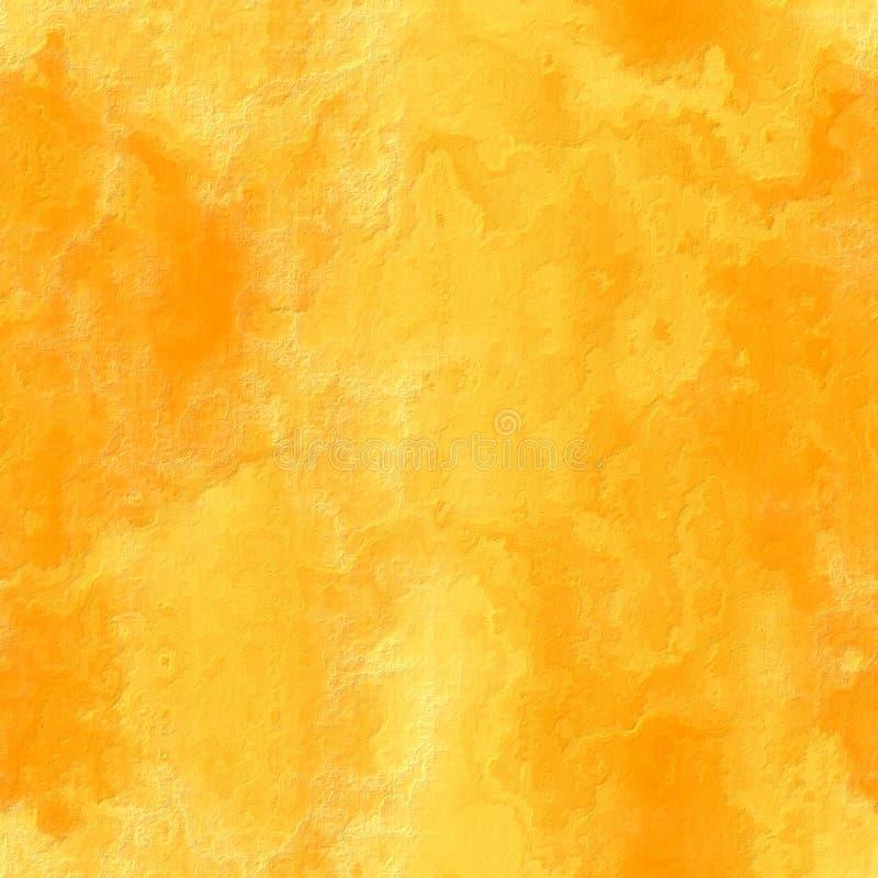 Colore giallo senza giunte della pietra di struttura illustrazione di stock