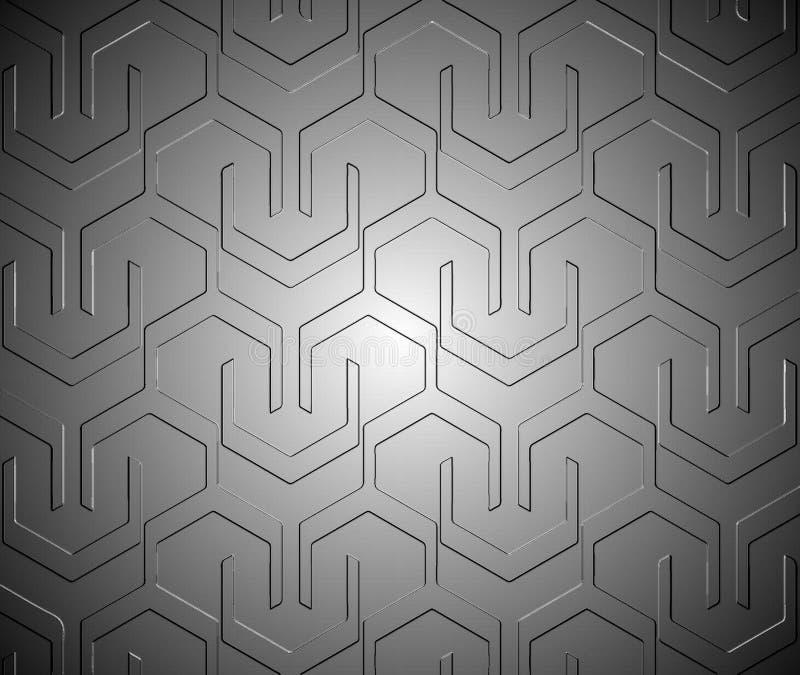 Colore metallico di stile techno del modello fatto timbrando immagine stock libera da diritti