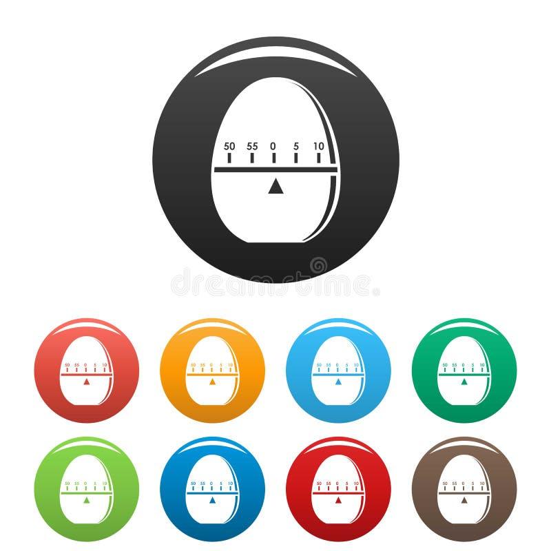 Colore moderno dell'insieme delle icone del cronometro royalty illustrazione gratis