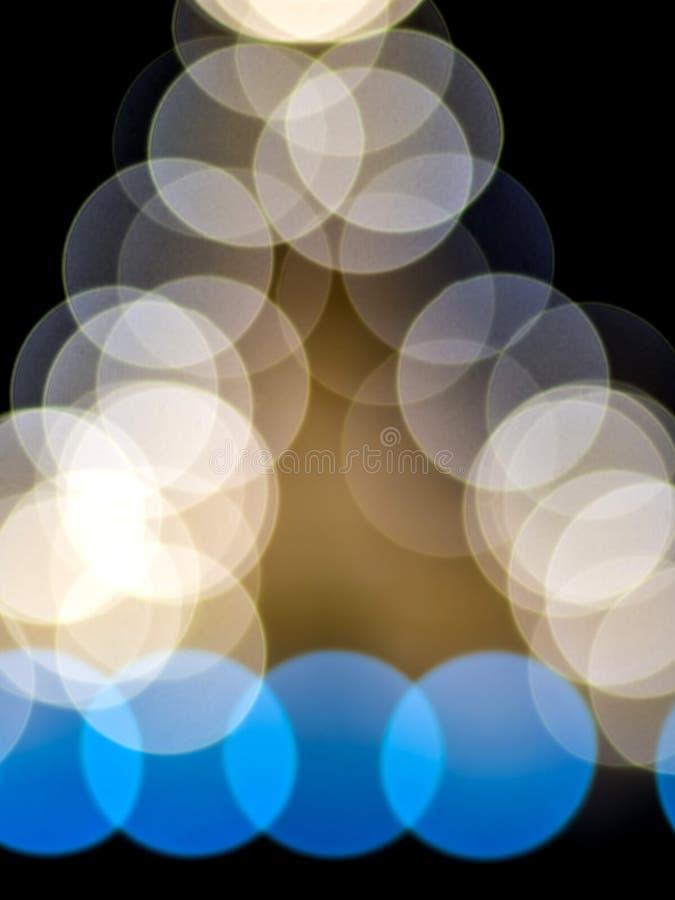 Colore multiplo di bokeh su fondo nero fotografia stock libera da diritti
