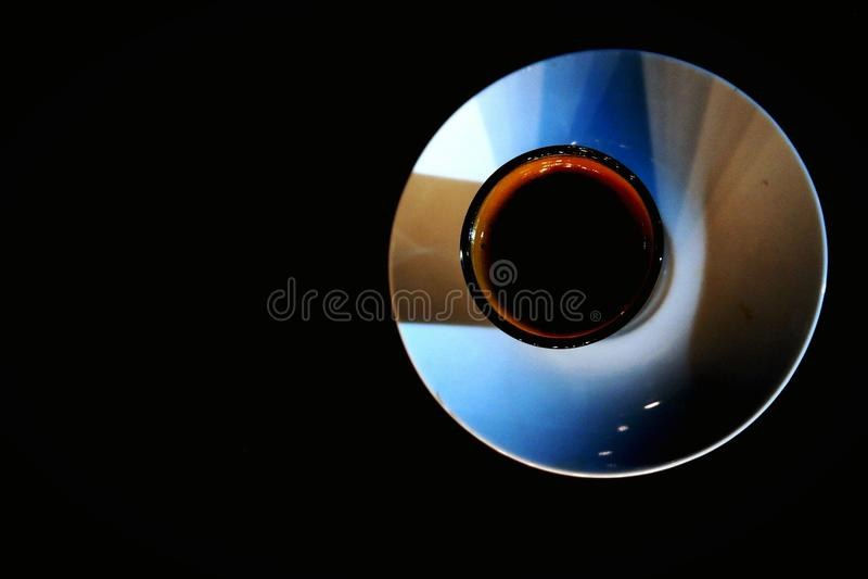 Colore nel caffè fotografie stock