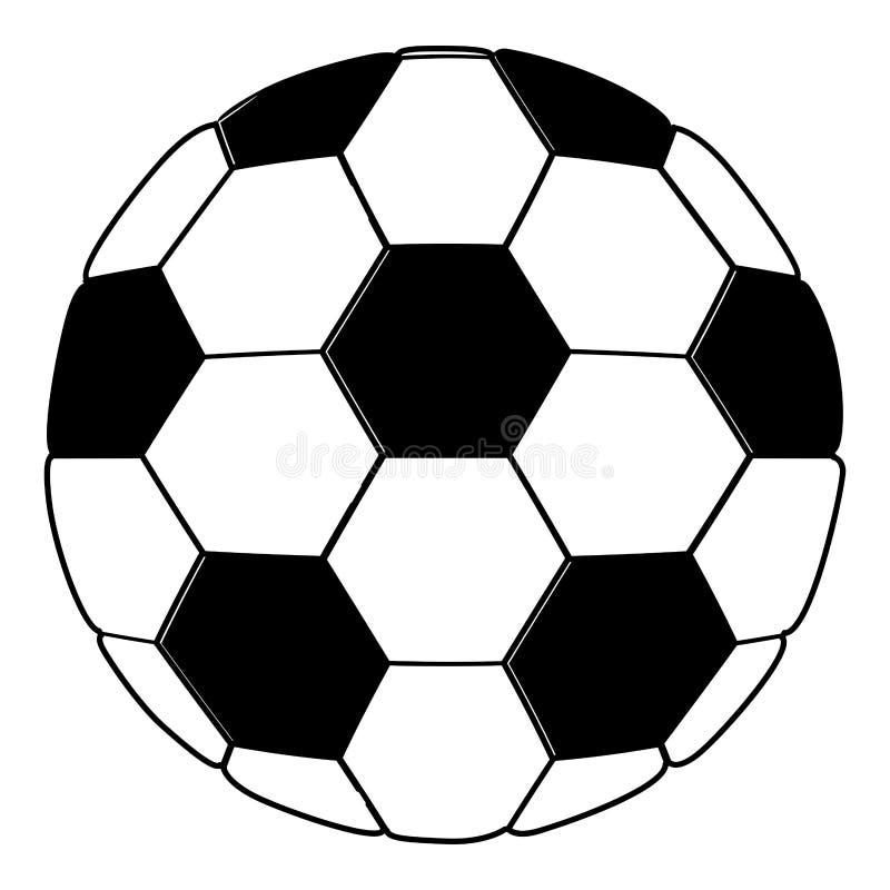 Colore nero della siluetta con pallone da calcio illustrazione vettoriale