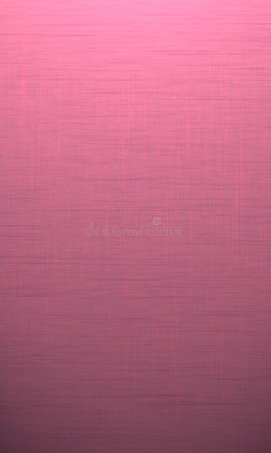 Colore rosa con struttura del lino Fondo della carta dell'acquerello con le onde nello stile di lerciume illustrazione di stock