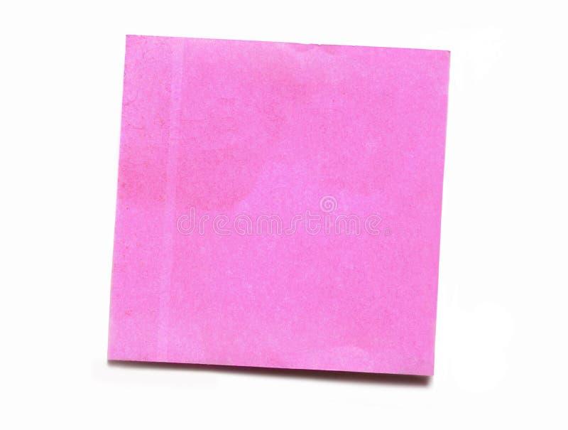 Colore rosa del post-it fotografia stock