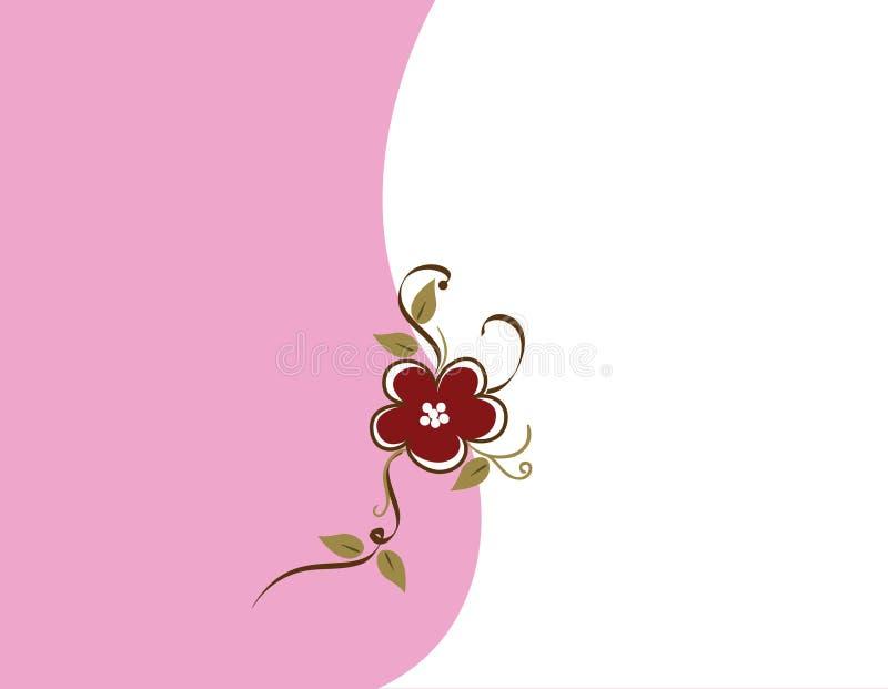 Colore rosa e Brown Backgound floreale illustrazione vettoriale