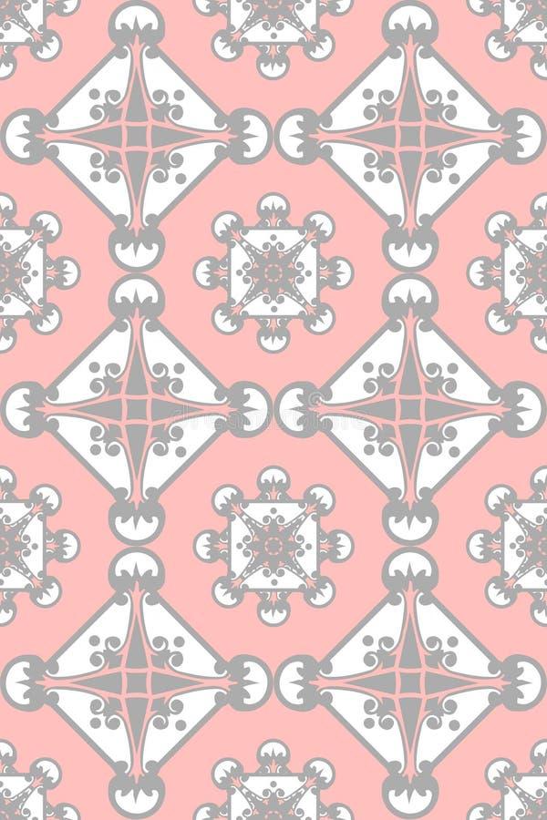 Colore rosa e disegno decorativo grigio illustrazione vettoriale