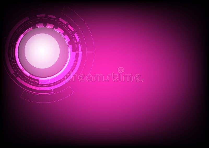 Colore rosa scuro astratto di tecnologia del fondo ciao illustrazione vettoriale