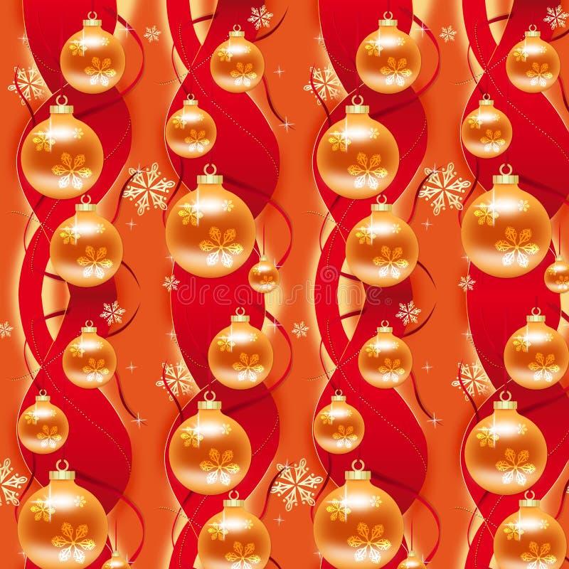 Colore rosso & carta da imballaggio di natale dell'oro royalty illustrazione gratis