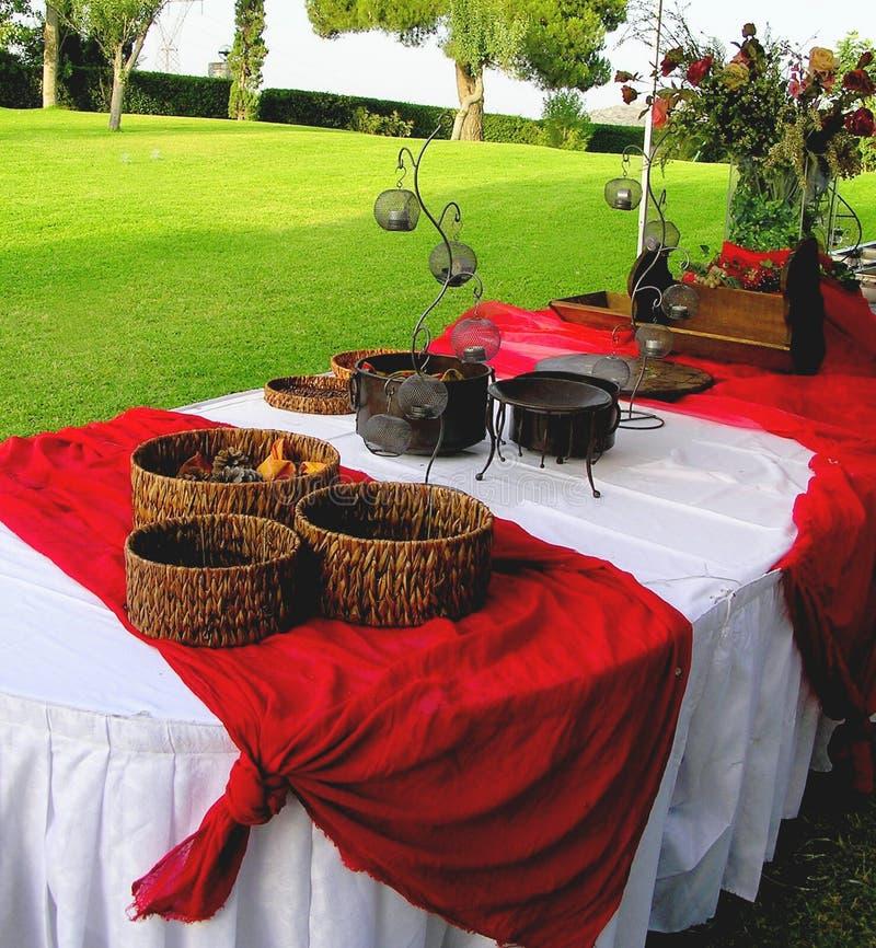 Colore rosso d'approvvigionamento del buffet fotografia stock