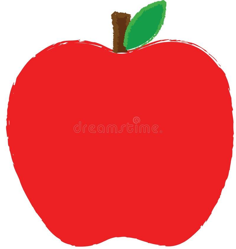 Colore rosso del Apple illustrazione di stock
