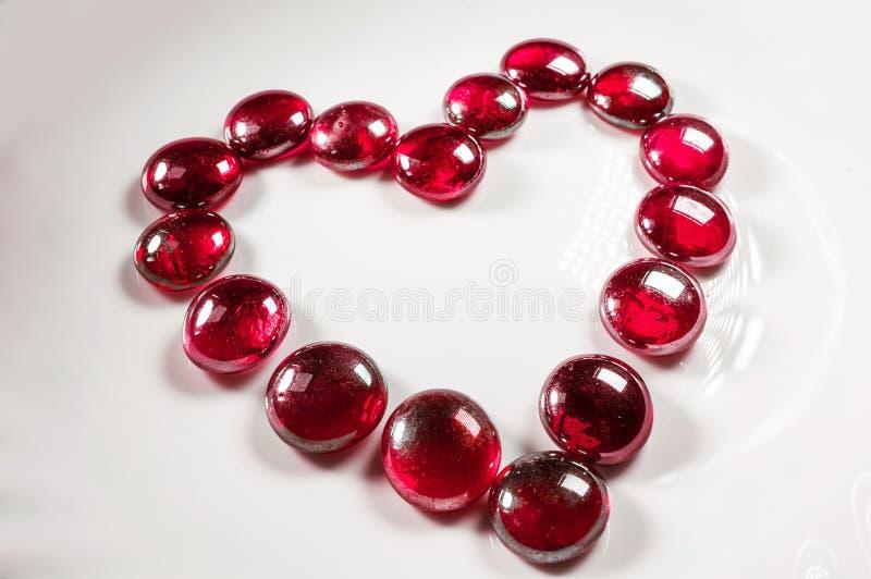 Colore rosso del cuore del biglietto di S. Valentino fotografia stock libera da diritti
