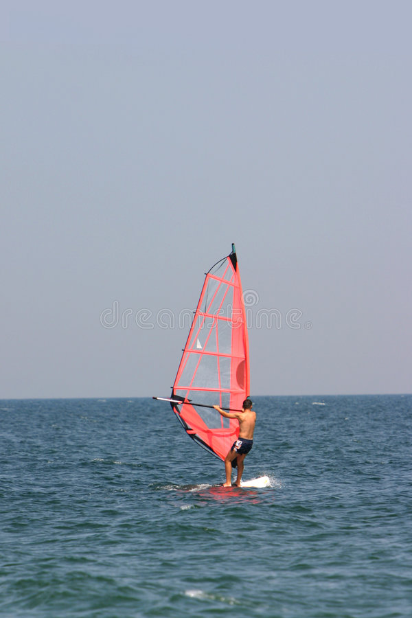 Colore rosso del surfista fotografia stock