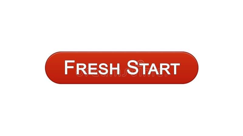 Colore rosso del vino del bottone dell'interfaccia di web di nuovo inizio, progettazione del sito dell'innovazione di affari illustrazione vettoriale