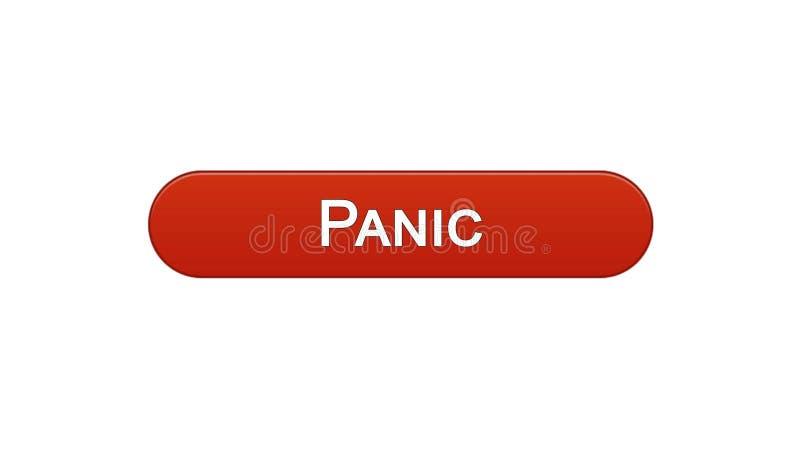 Colore rosso del vino del bottone dell'interfaccia di web di panico, progettazione del sito internet, programma online royalty illustrazione gratis
