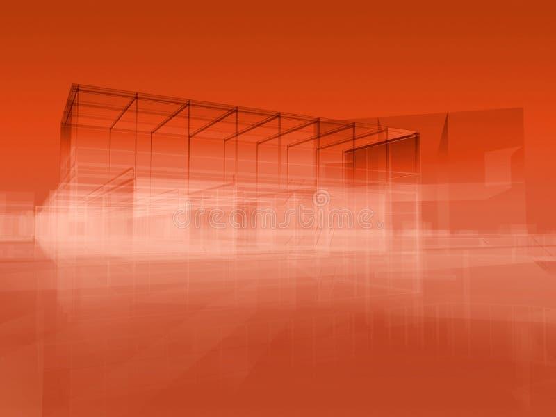 Colore rosso della città royalty illustrazione gratis