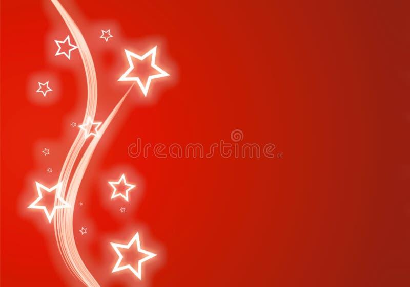 Colore rosso della neve della stella di natale illustrazione di stock