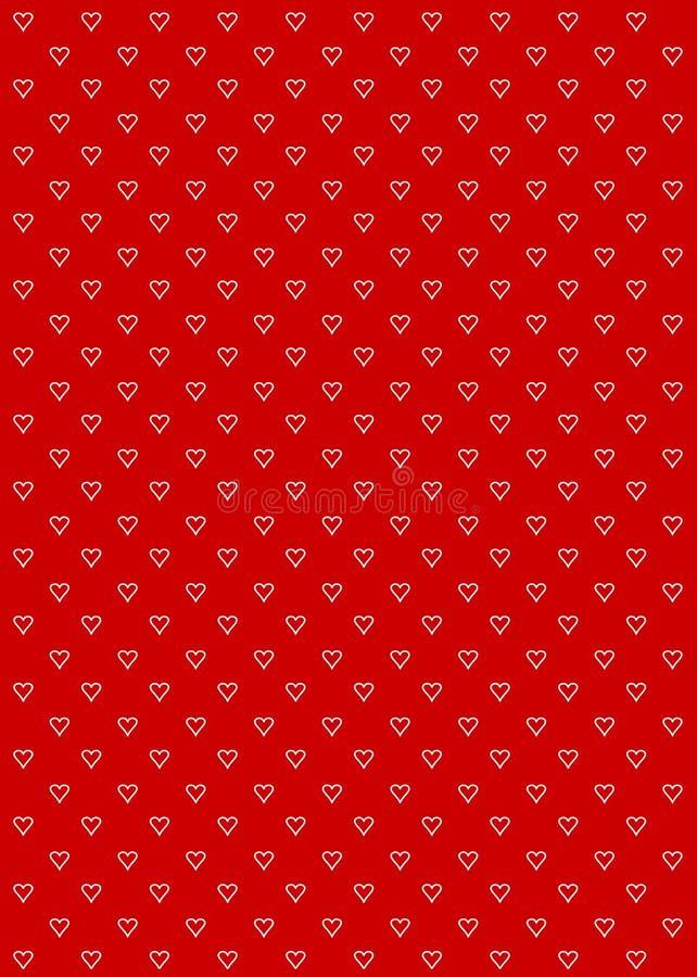 Colore rosso della priorità bassa del reticolo del cuore royalty illustrazione gratis