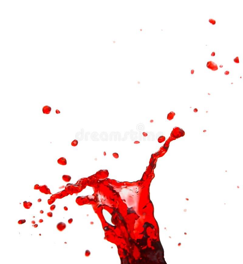 Colore rosso della spruzzata immagine stock