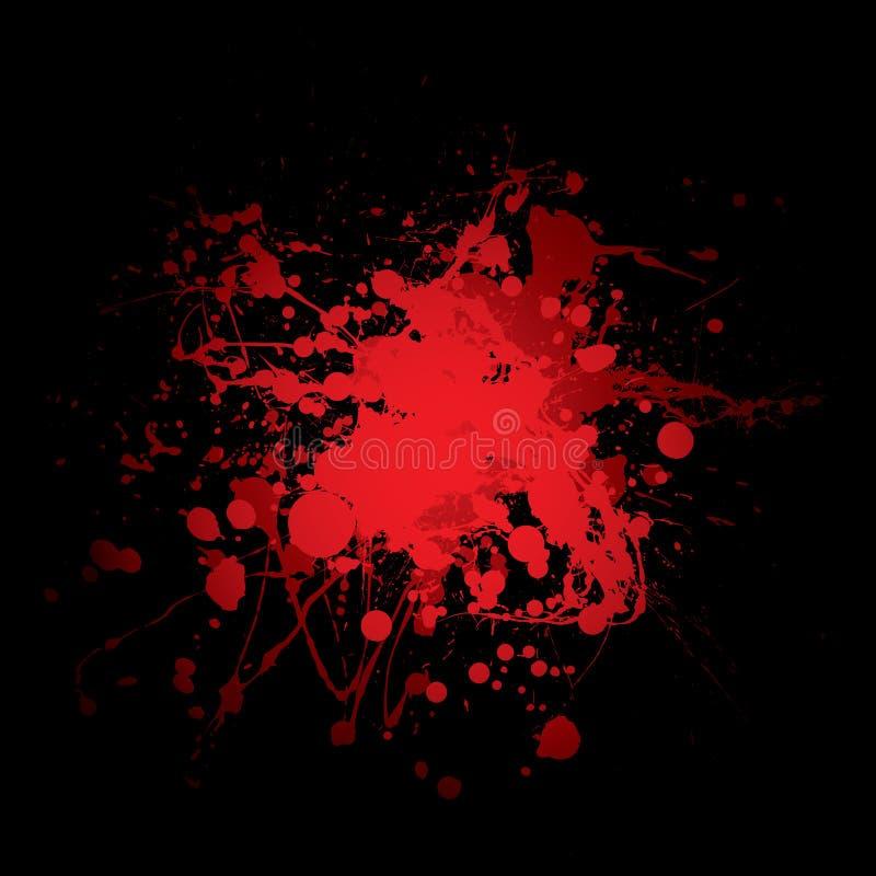 Colore rosso dello splat di anima illustrazione di stock