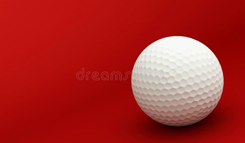 Colore Rosso Di Golf Fotografia Stock Libera da Diritti