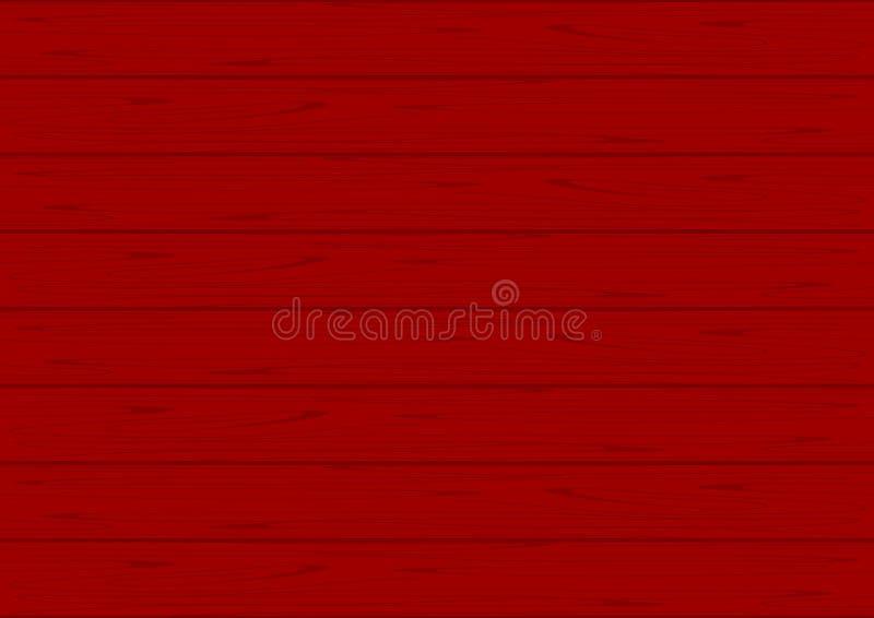 Colore rosso di struttura di legno per fondo, morbidezza pastello di legno di colori rossi del fondo, struttura del pavimento di  illustrazione vettoriale