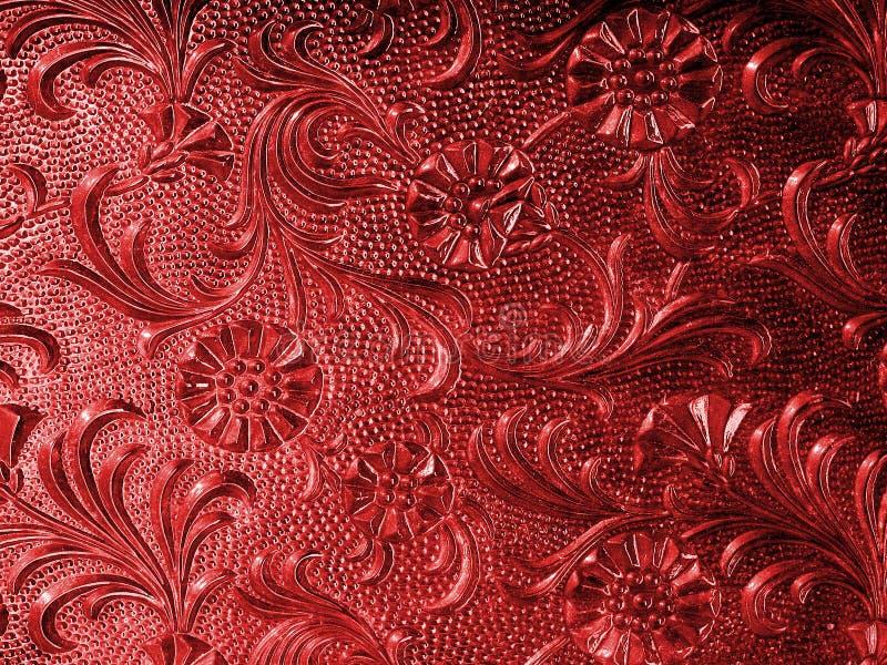 Colore rosso di vetro dell'annata immagini stock libere da diritti