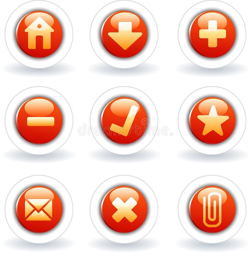 Colore rosso di Web royalty illustrazione gratis